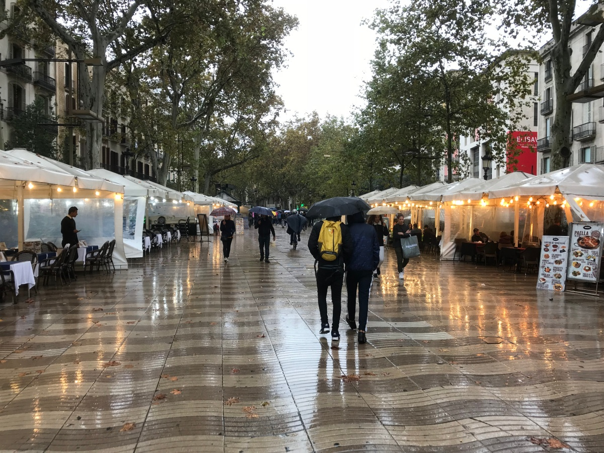The Big Trip, Day 8: Rainy day in Barcelona